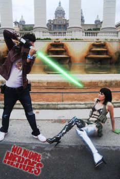 Travis and Holly No more heroes by TsuniBlack