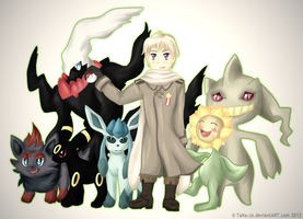 Russia and his Pokemon by TaNa-Jo