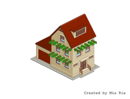 Pixel Art. Isometric. House 4 by MimiMiaART