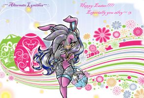 Art Trade:Happy Easter Alternate Lynithia! by Reina-wOlf