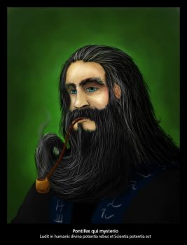 He has got a long long beard by icthelight