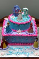 disney princess cake by pinkshoegirl