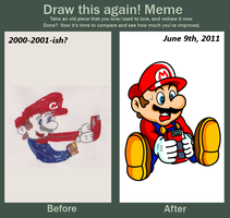 GBC Mario :Before and After: by JamesmanTheRegenold