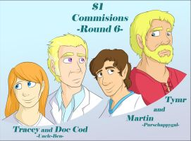 $1 Commisions: Round 6 by Everyday-Grind-Comic