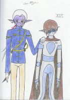 Gen. Myan and XIA by TheRedCello