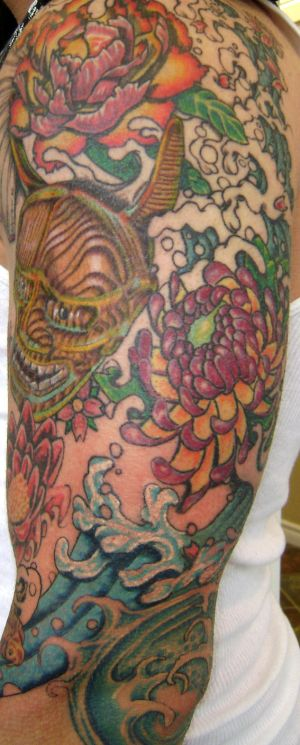 traditional hannya mask tattoos