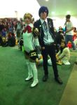 Persona 3 Protagonist and Aigis by Qrow92
