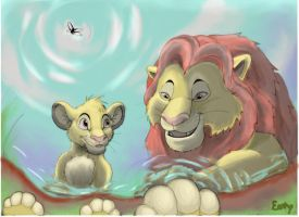 Look Simba who do you see? by EemsArt