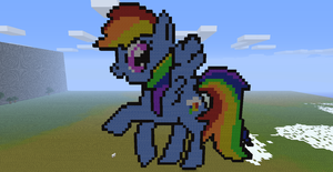 Minecraft- Rainbow Dash by aprilgoddess