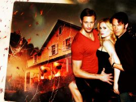 True Blood - Bon Temps Autumn (Eric, Sookie, Bill) by riogirl9909