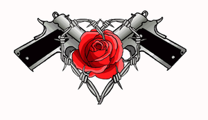 guns roses and barbwire tattoo by moatswimmer-inugrl