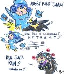 Gajeel and Juvia mishaps - Angry Birds by Kasugaxoxo