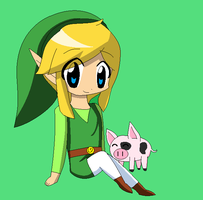 Art Trade: Toon Link by DazzleFox