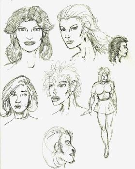 Women sketches by Nemo235