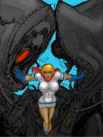 Power Girl Seperates the Wreckage by svettzwo