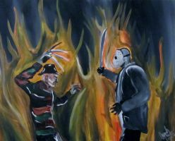 Freddy VS Jason by AmandaPainter87