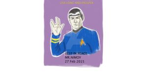 R.I.P. Mr Nimoy by Dynamic-Illustration