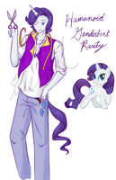MLP: Humanoid Gender bent Rarity by IfWingsWereReal
