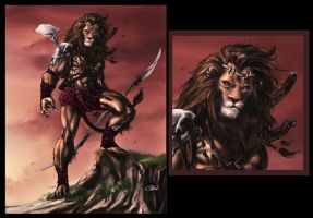 LIONman by caananwhite