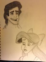 Ariel and Prince Eric by SempiternalFlame
