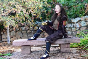 Asami Sato - The Bench by xrenascent