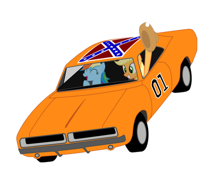 AJ and RD in The General Lee by 9x18