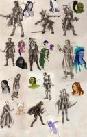 WoW Character Sketches by Timelady-Saxon