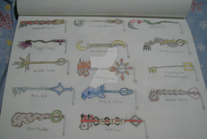 Organization XIII Keyblades by Xedramon