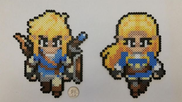 Breath of the Wild Link and Zelda Perlers by jrfromdallas