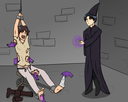 Eren's magical misfortune by Tickleforyou
