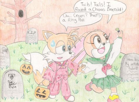 Tails and Cream's Halloween by TailsxCream-Fans