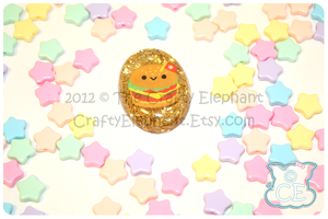 Hamburger Tinsel Pendant by moofestgirl
