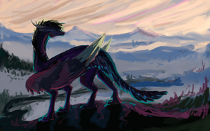 Watching the sunrise - WIP 2 by Anoroth