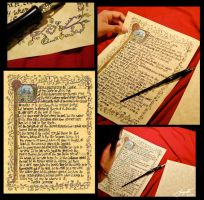 Illuminated Manuscript Page by LunaMacato