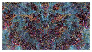 The Psychedelic Brain by eccoarts