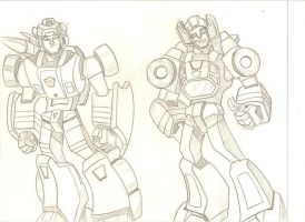 Sideswipe and Sunstreaker by stipher30