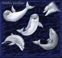 Dolphin Squishies by Rebmakash