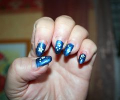 Nails with stars by ingeline-art
