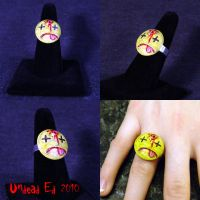 Rot Ring Dead Happy Face ooak by Undead-Art