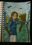 My little Ravenclaw friend by Godessia