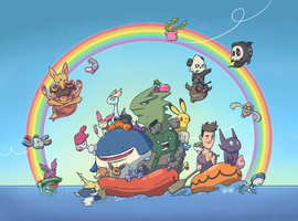 Pokemon Rainbow50! - Somewhere over the Rainbow by Nk-kN
