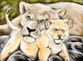 lions by TigrisAlbo