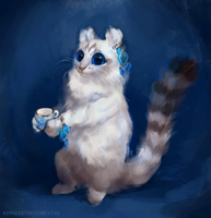 Tea Cat by Kipine