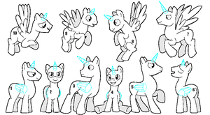 Stallion Group Base  (MS Paint) by jazzlovessilkies