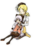 Madoka Magica - Mami and Nagisa by Babero
