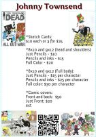 Johnny's Commission Price List by johnnyism
