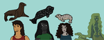 Selkie Ocs and A Mermaid by Moonstone27