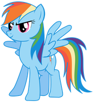 Rainbow Dash looking awesome by DerpyBubbles