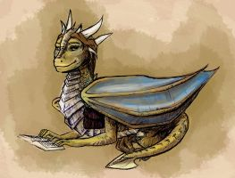 Dragonheart inspired dragoness by HollyRoseBriar