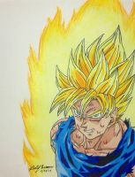 Ssj Goku Battle Damaged by gokujr96